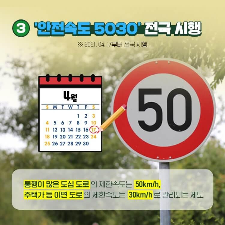안전속도 5030 전국시행